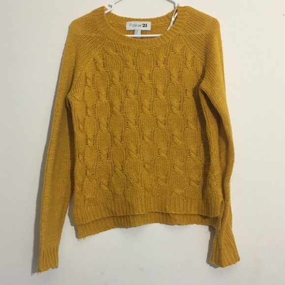Forever 21 Sweaters - Golden Mustard Chunky Knit Sweater